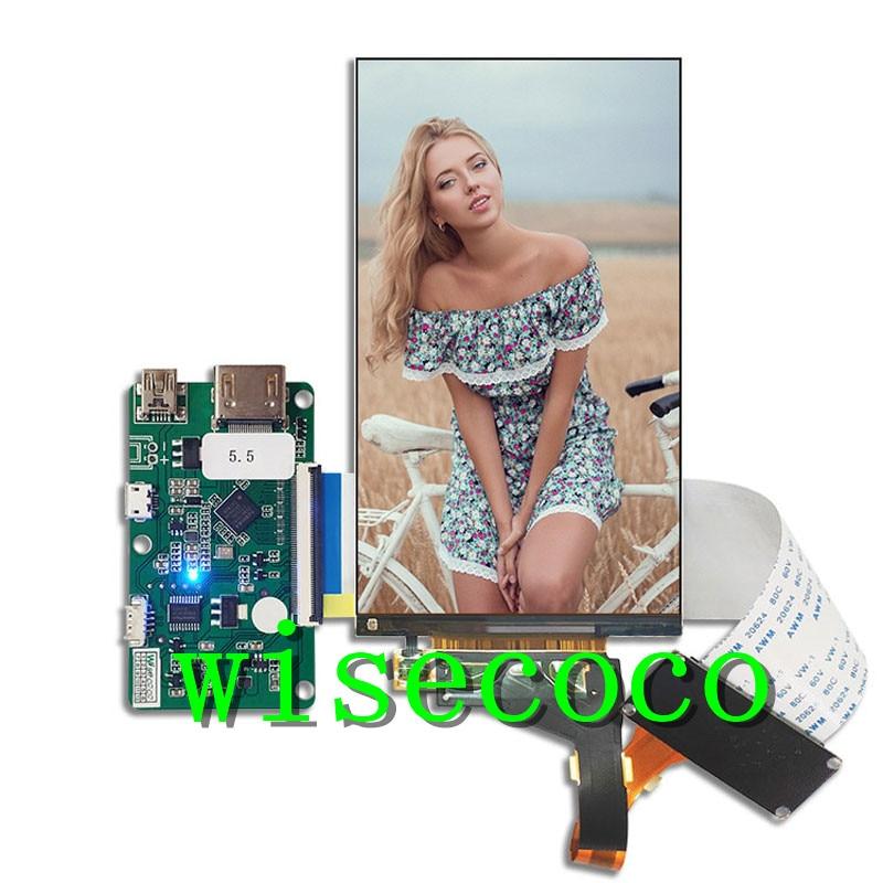 5.5 Inch 2k 1440*2560 IPS LCD Screen Module Display Monitor Hdmi To Mipi Board