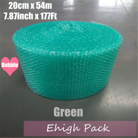 0.2*54m Green Heart shape Air Bubble Roll Party Favors And Gifts Packing Foam Roll Wedding Decoration Emballage Bulle Warp