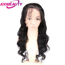 Addbeauty Pre Plucked 360 Lace Frontal Wig Brazilian Body Wave Human Remy Hair 360 Lace Wigs For Black Women Natural Hairline