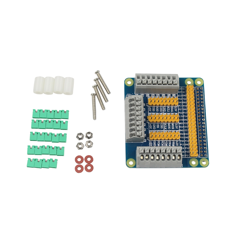 High Quality Raspberry Pi 3 Model B GPIO Expansion Board Multi-function Extension Adapter Plate for Orange Pi Raspberry Pi 2 suptronics x200 multifunction expansion shield board 6 20v support vga rtc gpio ir wifi etc for raspberry pi model b and pi 2