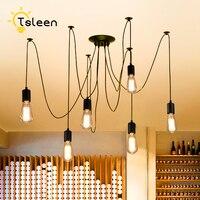 TSLEEN DIY Złote Edison Żarówki na Suficie Wisiorek Wiszące Pająk Światła Lampy Led Lampy 1-12 Głowice Kostium Lamparas Led oświetlenie