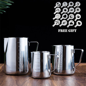 Image 1 - Aço inoxidável multi tamanho stencils café copo garland pote arte barista ferramentas acessórios de café fácil ir café molde estêncil