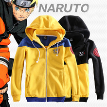 15 Years Naruto Cosplay Hoodies Winter Zipper Jacket Pretty Computer Embroidery Men  Pullovers Fleece Hoodie