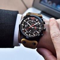 BENYAR бренд 2019 большой циферблат дизайн хронограф спортивные мужские часы модные Военная Униформа водостойкие кварцевые часы Relogio Masculino