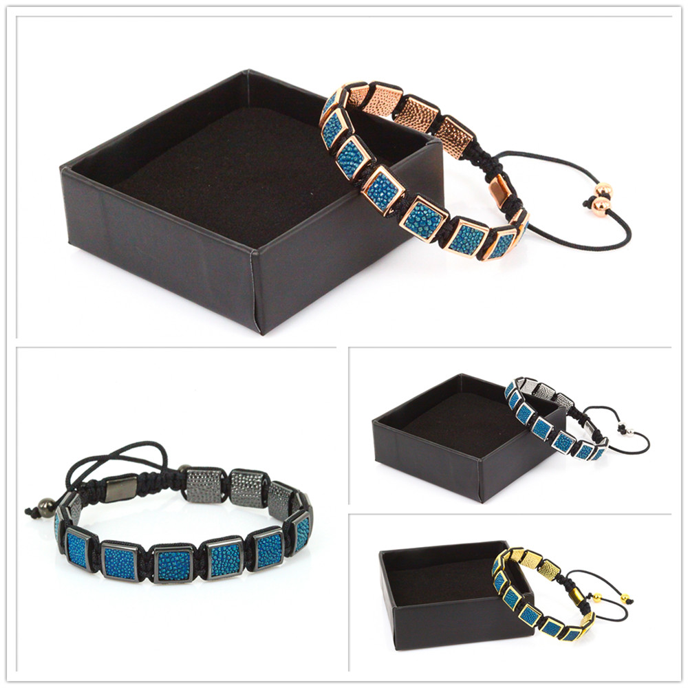 New Brand Fashion Men Anil Arjandas Braiding Bracelets Blue Color Pearl Fish Braid Bracelets & Bangles Pulseira Masculina Gift