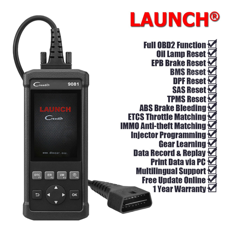 Image 4 - Launch DIY Scanner CReader 9081 Full OBD2 Scanner/Scan Tool Diagnostic OBDII+Oil+EPB+BMS+SAS+DPF+TPMS ABS Bleeding CR9081