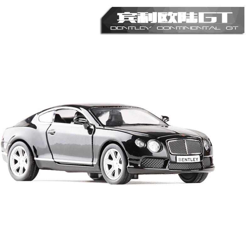 High Simulation 1:36 RMZ City Toy Alloy Diecast Model Bentley Continental GT V8 Pull Back Car Educational Metal Gift For Kids