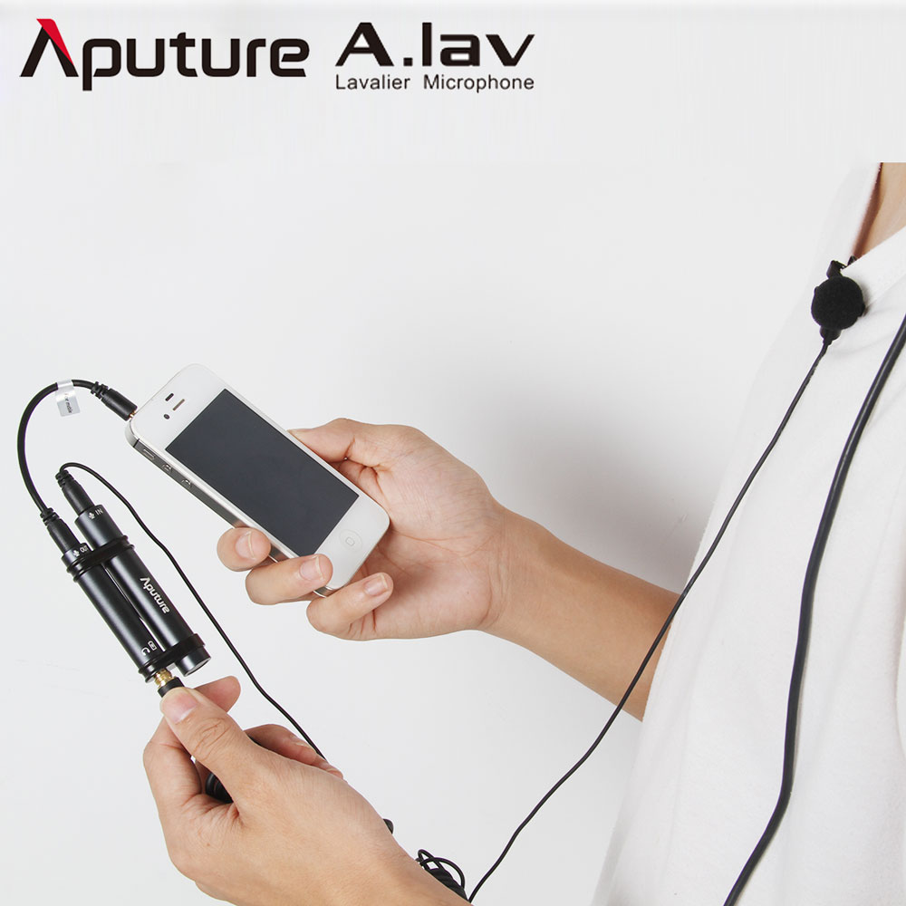 Aputure A lav Omnidirectional Lavalier Smartophone Microphone for iPhone Sumsang Nikon Canon DSLR Recorder Mobile Cell