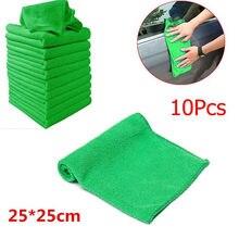 Chiffon de lavage en Microfibre 25x25cm, 10 pièces, chiffon doux pour le nettoyage de la voiture, de la maison, # Y5