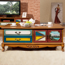 exquisite workmanship American style and personality style solid wood rectangle coffee table
