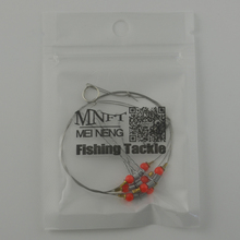 MNFT 5set String Fishing Hooks 4 Steel Wire Swivels Connection Anti-Winding Sea Fishing Hook Bracket