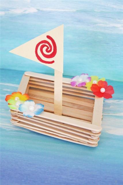 50pc Ice Cream Stick Wooden Popsicle Stick Handmard Gifts Moana