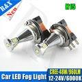 1 par 48 W 6000 K Xenon Blanco H15 LED bombillas Para Auto LLEVÓ Luces de Circulación Diurna DC12-24V