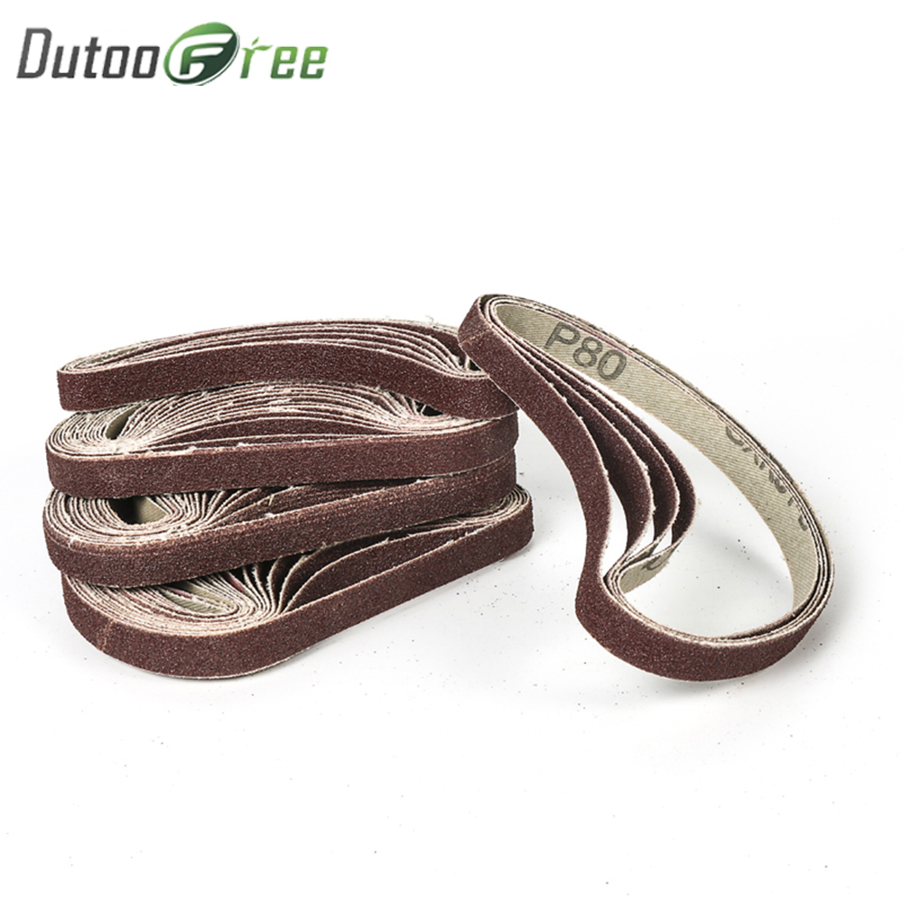 Good 10pcs Abrasive Tools Sanding Belt Sandpaper Disc Sandpaper Grinding Wheel Abrasive Belt For Air Belt Sander Rotary Tool Abrasive Tools