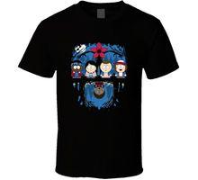 Stranger Things T-shirt Funny South Park Tee Men Short Sleeves T Shirt Top Basic Tops