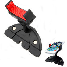 360 Degree Universal Portable Car CD Slot Dash Stretchable Clip Phone Mount Stand Holder For GPS MP3 For iphone for Samsung GPS