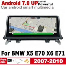 Android 7.0 up IPS car player for BMW X5 E70 X6 E71 2007~2010 CCC original Style Autoradio gps navigation WiFi BT Bluetooth 10 25 inch 32g rom android 7 1 system car gps navigation media stereo radio for bmw x5 e70 x6 e71 2007 2010 with ccc system