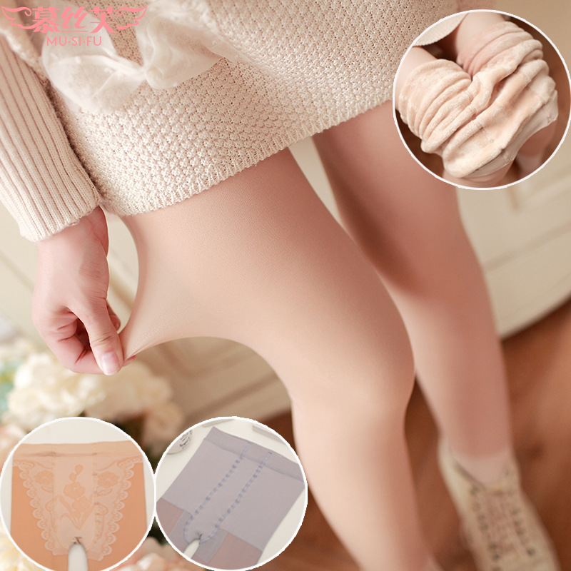 High Quality Autumn&Winter Plus Cashmere Tights High Quality Knitted Velvet Tights Super Elastic Slim Warm Thick Tights
