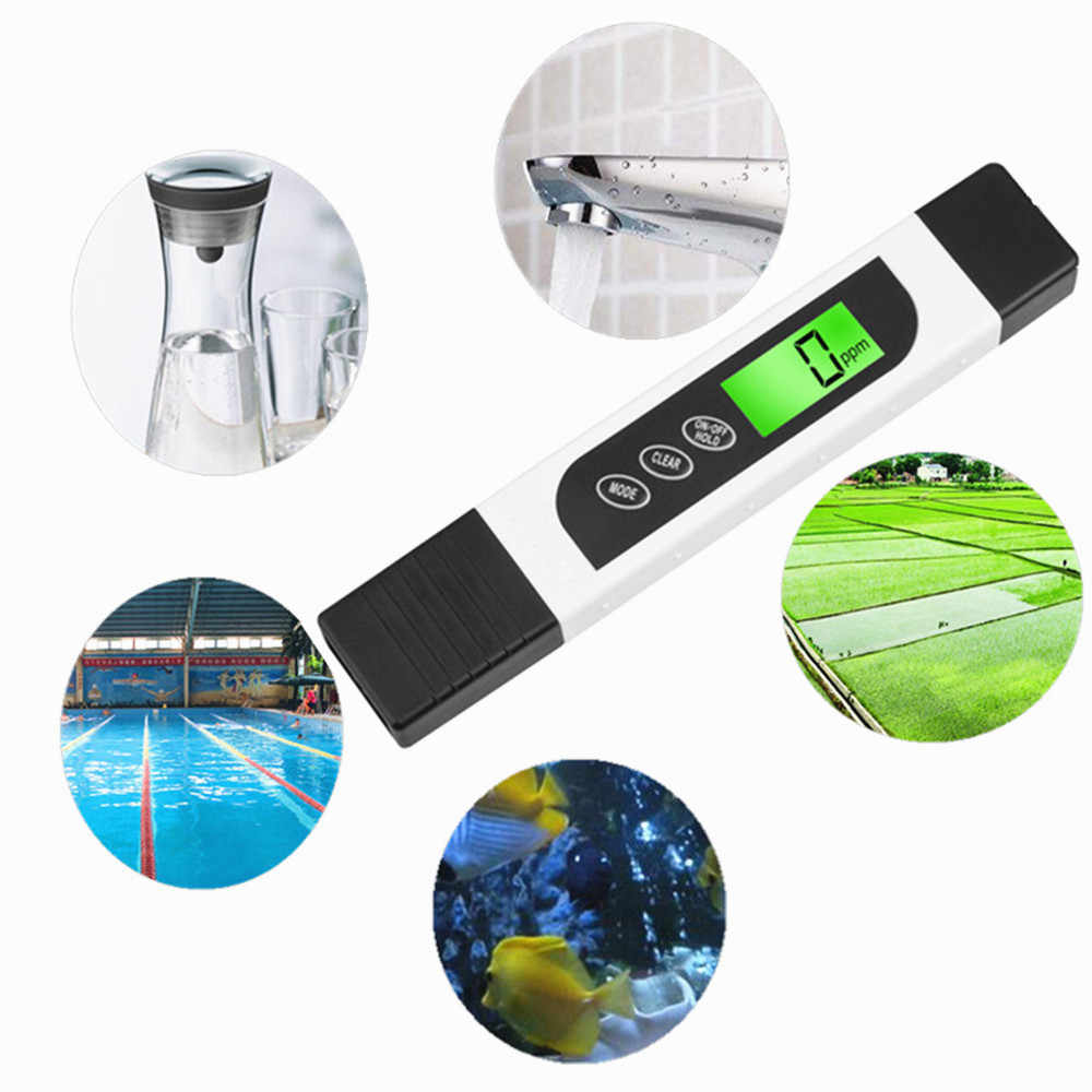 Цифровой измеритель TDS портативный EC метр 0 ~ 9990ppm 3 в 1 тестер качества воды аквариум качество бассейна тестовая ручка Чистота фильтр монитор температура