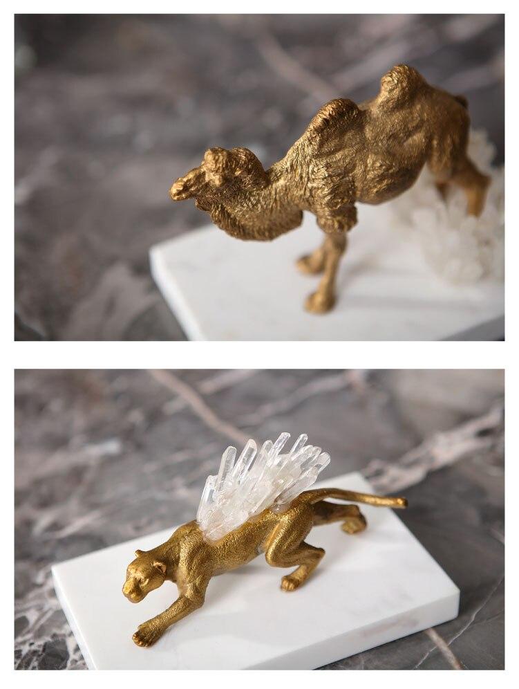 Selvagem luxuoso Camelo Renas Decoração Estatueta de