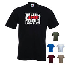 This is what an Awesome Paintballer looks like Paintball Airsoft Funny Tshirt New T Shirts Tops Tee  free shipping