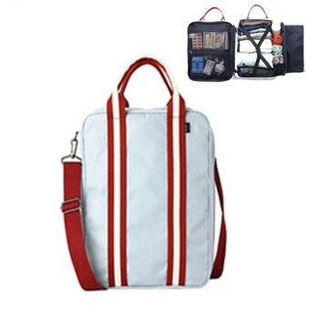 b33c06057 Bolsa de lona de nailon de moda para hombres, bolsas de viaje pequeñas,  Maleta plegable, bolsa de fin de semana de gran capacidad, bolsa de  embalaje para ...