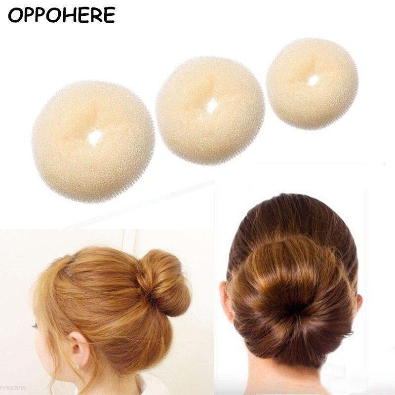 Novelty Updo Styling Doughnut Bun Ring Shaper Women Kids Girls Hair Styling Tool 1