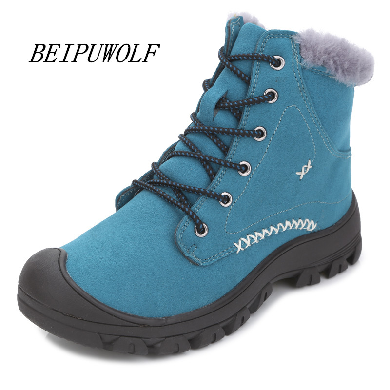 2016 Winter High Top Sneakers Women Sports shoes Trainers Warm Running shoes Ladies Girls Sneakers Ankle Boots Size 35-40 new women hiking shoes outdoor sports shoes winter warm sneakers women mountain high tops ankle plush zapatillas camping shoes