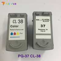 PG37 Ink Cartridge for Canon PG 37 CL 38 For Canon PIXMA MP140 MP190 MP210 MP220 MP420 ip1800 iP1900 iP2500 iP2600 MX300 MX310