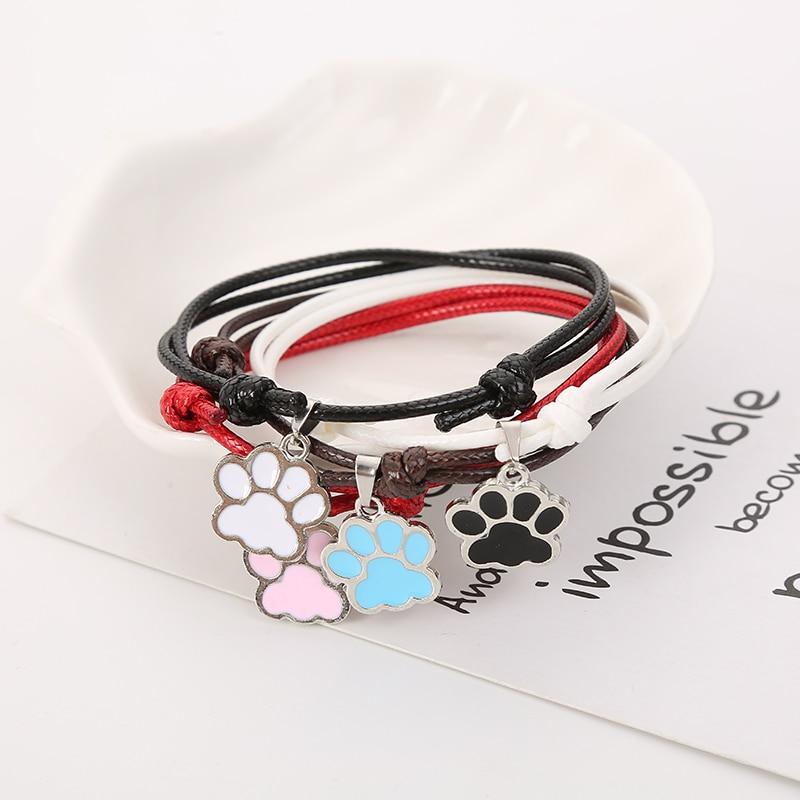 ALI shop ...  ... 33030128206 ... 2 ... BOBIGIULAI Brand 2pcs/set Cute Dog Footprint Couple Bracelet Fashion Simple Adjustable Bracelet Jewelry For Student Gift ...