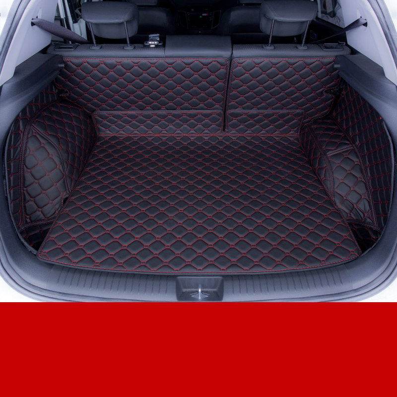 lsrtw2017 fiber leather car trunk mat for hyundai Creta 2015 2016 2017 2018 2019 hyundai ix25 Hyundai Cantus