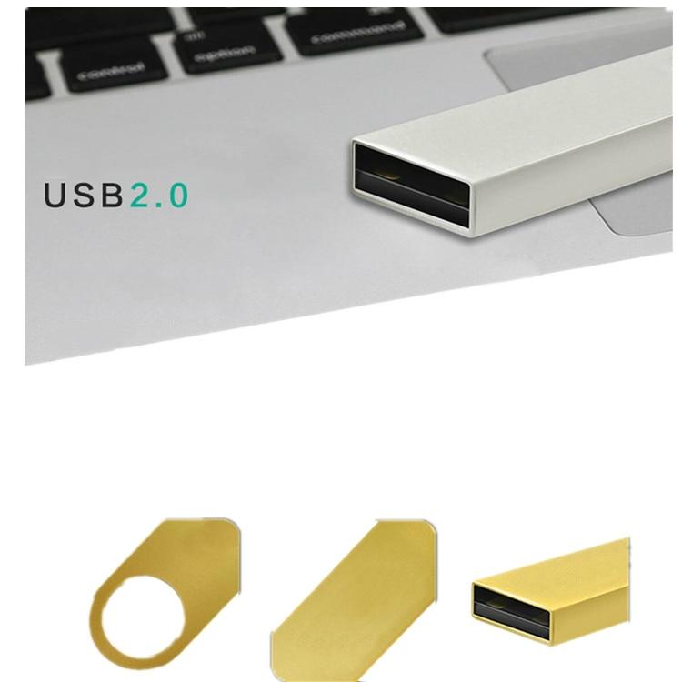 Usb Flash Drive 2.0 32GB Metal Black Pen Drive 16GB 64GB 128GB Waterproof Pendrive 8G Usb Stick Keychain Flash Memory Stick Gift 4