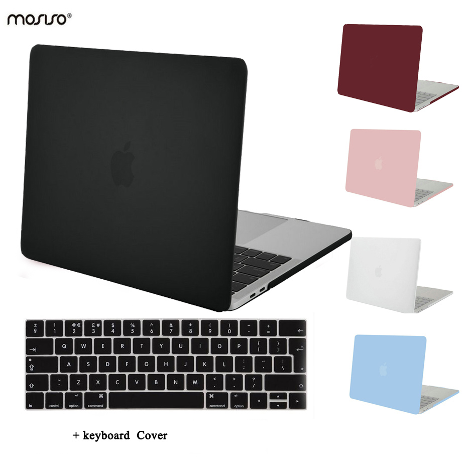 mosiso for macbook pro 13 touch bar a1706 a1708 crystal matte plastic hard case cover 2016 2017. Black Bedroom Furniture Sets. Home Design Ideas