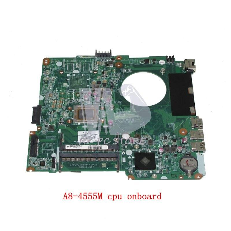 NOKOTION 736822-501 736822-001 739659-501 For HP Pavilion 14-N Laptop motherboard DA0U92MB6D0 A8-4555M CPU DDR3 nokotion sps v000198120 for toshiba satellite a500 a505 motherboard intel gm45 ddr2 6050a2323101 mb a01