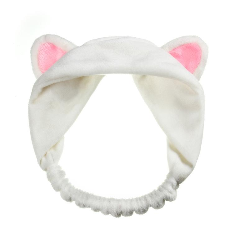 2017 New Fashion Cute Korea Styles White Black Pink Cat Ear Hair Headbands For Women Girls