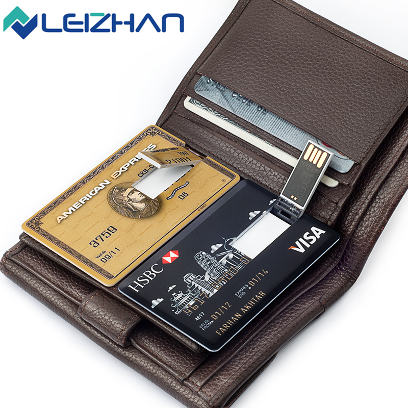 2018 leizhan credit card usb flash drive 32gb thumb drive customized usb pen drive wedding gift 16gb pendrive 8gb 4g u disk 64gb in usb flash drives from - Personalized Credit Cards