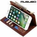 Genuine leather case para iphone 6 plus tampa articulada para iphone 7 além de casos destacáveis saco carteira luxo iphone 5 5s se bolsa 6 s