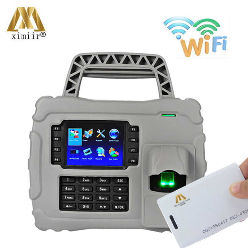 Waterproof,dust Proof,shock Proof S922 WIFI TCP/IP Fingerprint Time Attendance ID Card Time Recording With Backup Battery