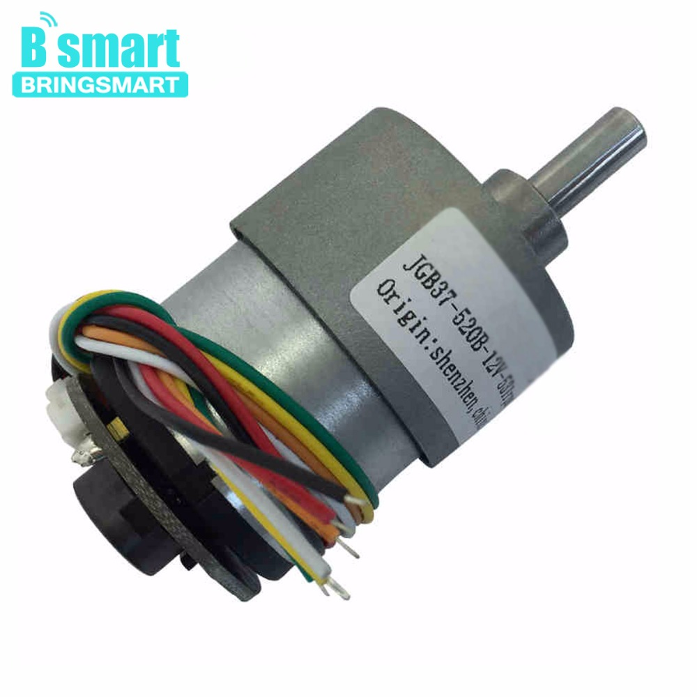 Bringsmart JGB37-520B Encoder Gear Motor DC 12 volt With Encoder Disk A/B Phase Output Micro Electric for Intelligent Parts New наземный высокий светильник fumagalli cefa u23 162 000 aye27