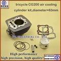 Nuevos y de calidad para LONCIN triciclo 200cc motocicleta CG200 cilindro de enfriamiento de aire kit