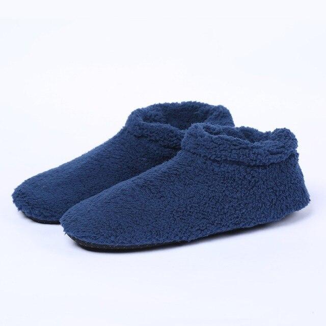 Plus Size Men Winter Home Indoor Slippers Warm Soft Plush Floor ...