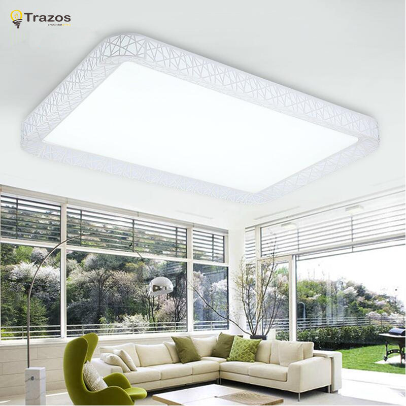 Modern light fixtures ceiling Led Lights in 2017 hot sale luminarias home decoration square shade remote control  light black and white round lamp modern led light remote control dimmer ceiling lighting home fixtures