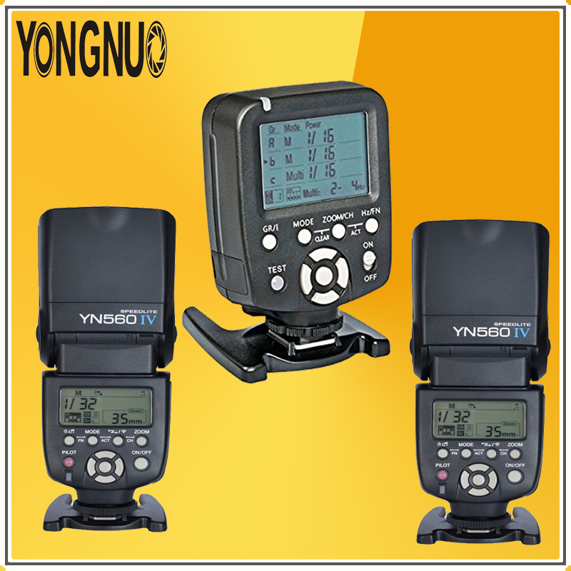 YONGNUO YN560-TX Wireless Flash Master Controller + 2*YN560IV YN560 IV Wireless Flash Speedlite kit For Nikon DSLR Cameras yongnuo yn560 iv yn560iv wireless master radio flash speedlite 2pcs rf 605c rf605 lcd wireless trigger for canon dslr cameras
