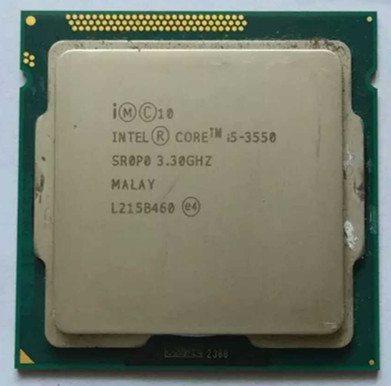 intel i5 3550 cpu quad core cpu LGA 1155 socket 3.2Ghz use H61 H67 Z77 Z68 H77 motherboard 77w 3570 processor colorful c h61u v27 quad core computer i small colorful h61 motherboard
