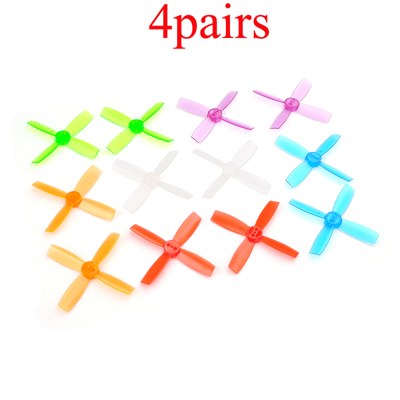 4Pairs PC 2435 2.4 inch 60mm Propeller 4 Blades Prop CW CCW Propellers 1.5mm Hole for 1102 1103 1104 1105 <font><b>1106</b></font> <font><b>Motor</b></font> FPV Drone image