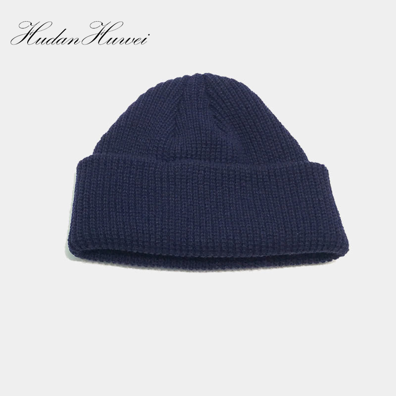 Detail Feedback Questions about Men Knitted Sailor beanie short Hat Beanie  Skullcap Sailor Cap Cuff Brimless Vintage Retro Fashion 2018 New AMXM010 on  ... 776ce4171af