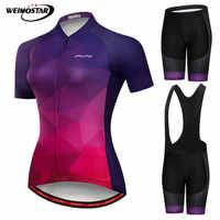 Weimostar Pro Radfahren Kleidung Frauen Team Racing Sport Radfahren Jersey Set Quick Dry MTB Bike Kleidung Anti-Uv Fahrrad Kleidung
