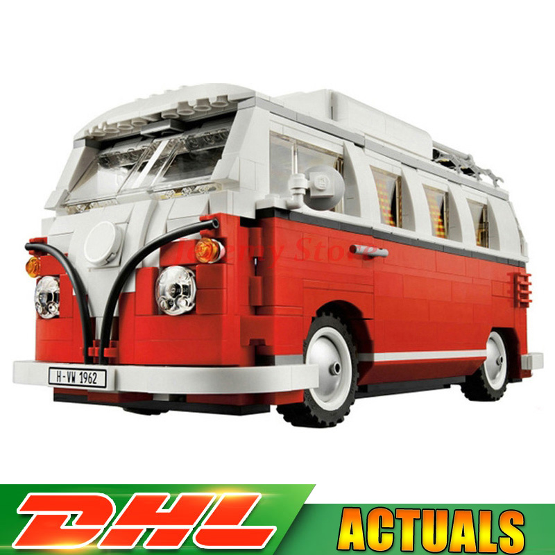 LEPIN 21001 1354Pcs Creator VW T1 Camper Van Model Building Kits Bricks Toys Compatible LegoINGLY 10220 Car Christmas Gifts in stock lepin 21001 1354pcs volkswagen t1 camper van model building kits bricks diy blocks toys compatible legoings 10220