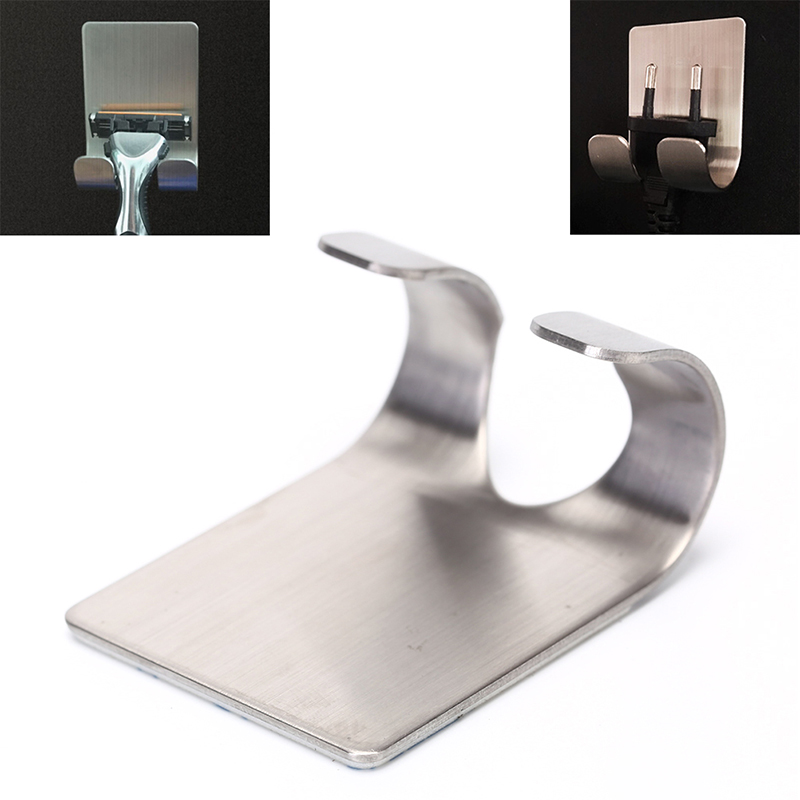 304 Stainless Steel Razor Holder Shaving Razor Rack Bathroom Viscose Razor Hook Men Shaving Shaver Shelf