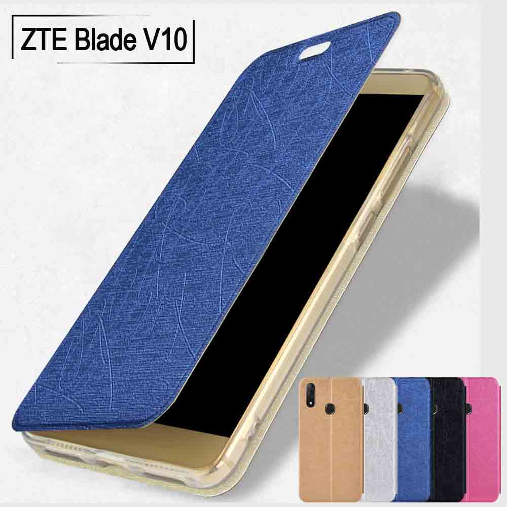 ZTE Blade V10 case flip stand slim leather case silicone back cover for Zte Blade V9 case fundas ZTE V8 cover ZTE V7 lite case
